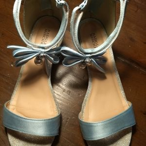 Girls formal shoes crystal blue size 5